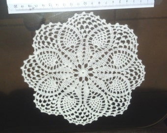 D-69. Black crochet doily White crochet doily Beige crochet doily Round Doily Lace crochet Doily Pineapple crochet doily