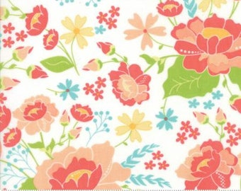 Lulu Lane ~ Main White by Corey Yoder ~ Moda fabrics .. 29020 11 ~ By the Yard