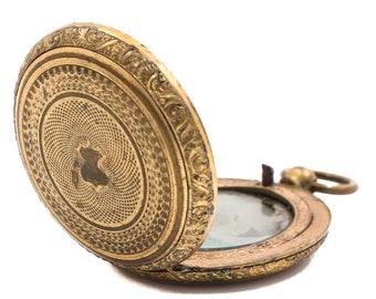 Gold Tone Victorian Mourning Locket