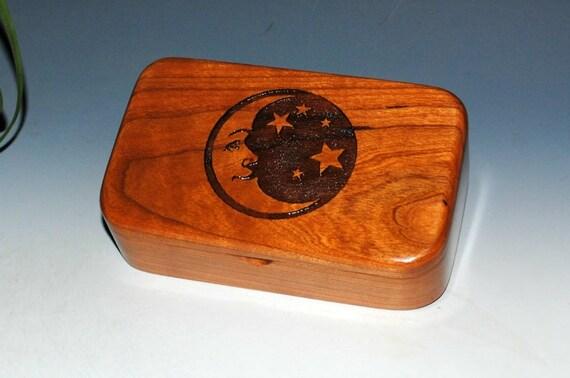 Moon & Stars Wooden Box - Engraved Cherry Wood Box, Gift Box, Keepsake  Box, Stash Box- Small Wooden Box, Treasure Box-Jewelry Box-Moon Box