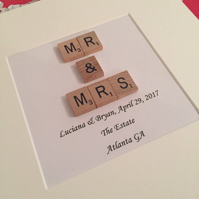 Herr und Frau Hochzeit Rahmen mit Namen Datum und Ort