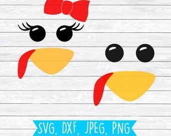 Turkey SVG, Turkey DXF, Thanksgiving SVG bundle, Turkey Face Svg, Turkey Svg, Silhouette, Cricut, Cut File, Girl Turkey Face,Boy turkey Face