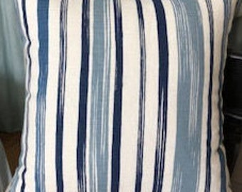 Romo Raul fabric pillow cover in Cadet Blue,