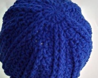 Crochet hat, womens hats winter, beanie women, womens hats, hand made hat, womens gift, knit hat, blue crochet womens hat
