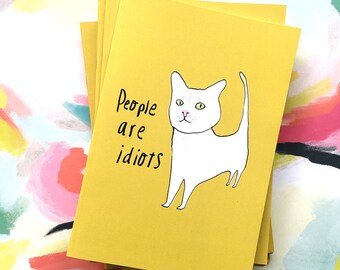 People are Idiots a5 size 48 page notebook sketchbook recycled unlined paper