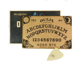 Vintage Ouija Board Game in Box, Mystifying Oracle, Parker Brothers, William Fuld