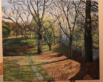 Autumn - Acrylic landscape painting