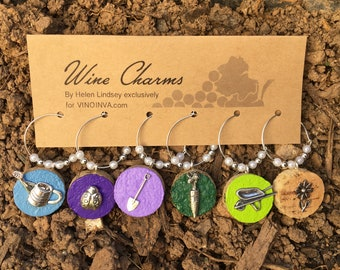 Wine Charms - Sunrise in the Garden