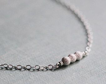 stellar in silver - tiny bead necklace by elephantine