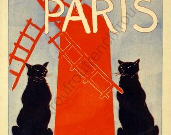 antique victorian art poster about paris digital download