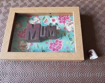 Letterpress Letters - Mum