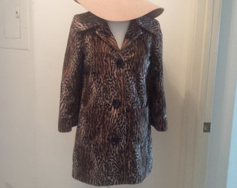 Vintage Guess Faux Fur Cheetah Coat
