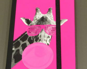 notebook pages White Giraffe pink note book