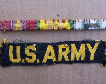 Viet Nam Ribbon Bar and US Army Tab, Vietnam War US Army items