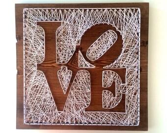 Love <Wood Art//Home Decor//String Art//Signs>