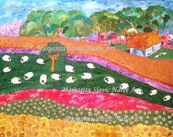 "Slavic Naive Art ""My Summer Country House"""
