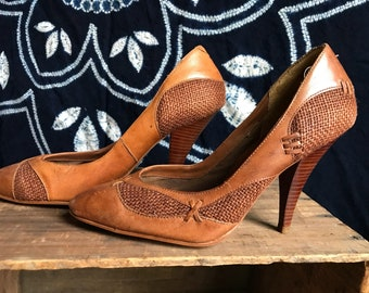 Cute As Hell 80's high heel pumps. Size 6.