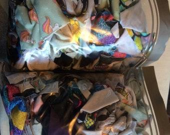 Random selection fabric scrap bags