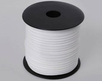 5 meters of cord Suede, 3mm white flat cord