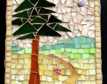 Stained Glass Mosaic Trivet or Wall Hanging