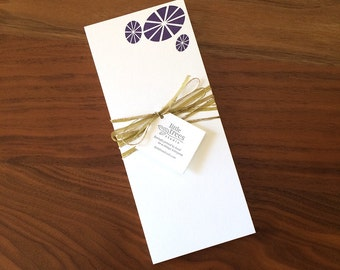 Letterpress Buckslips - Modern Morning Glories Notecard