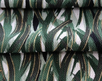 Kimono Silk Fabric, Japanese Kimono Silk, Green Fabric,  Green Kimono Silk