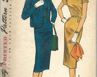 Simplicity 1769 Misses One-Piece Dress And Jacket Pattern, Size 16, Bust 36
