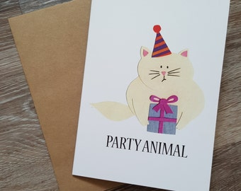 Happy Birthday Card, Funny Birthday Card, Pun Birthday Card, Pun Card, Funny Birthday Card Girlfriend, Cat Card, Card for Friend, Cute Card