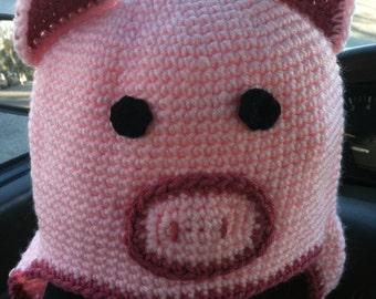Pig hat cap beanie - BACON
