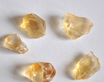 16cts Natural Citrine Raw 5 Pieces, Rough Citrine Lot, Rough Orange Quartz Crystal Stone, Natural Gemstone, Citrine Crystal BC116