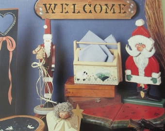 """Vintage Folk Art Decorative Painting book """"Decorating With Folk Art"""" by Faith Rollins 36 pages 1992 used book"""