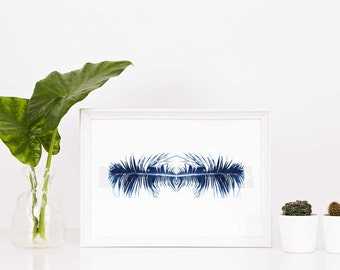 Queen Palm Frond, Palm Frond Wall Decor, Digital Download Art, Wall Art, 8x10, PDF