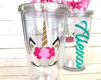 Unicorn Tumbler | Personalized Unicorn | Magical Unicorn | Unicorn Cup | Birthday | Princess | Unicorn Gift
