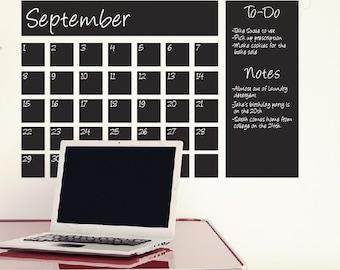 SALE! Chalkboard Calendar Wall Decals