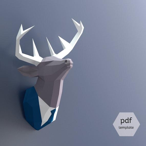 Papercraft Deer Head Make Your Own Trophy Paper Trophy Pdf