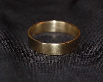 5mm 14kt Yellow Gold Plain Wedding Band, Male wedding band, Simple wedding band