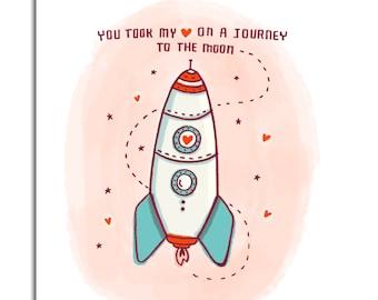 Journey to the Moon - Art Print 5x7, 8x10, 11x14