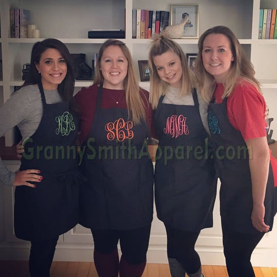 "NO pocket Navy Blue Berries apron + Lime Green SBE font monogram apron (28""L x 24""W) Engagement, House Warming, Bridal Shower Birthday, Etc"
