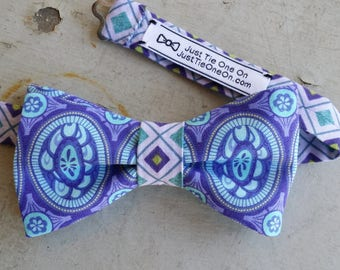 Light Blue & Lavender Bow Tie