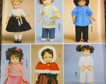 Doll Clothes Sewing Pattern McCall's 9258 Clothes for 18 inch Doll American Girl  Complete Uncut