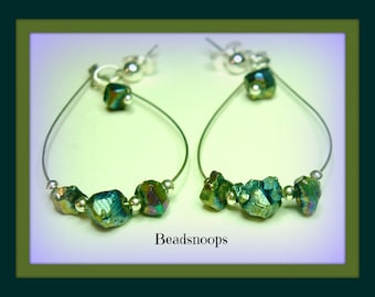 Rainbows last forever-looped post dangle earrings (published)