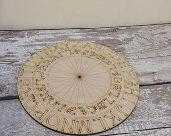 Enochian Alphabet Cipher Disk Enochian Alphabet Cipher Wheel Ring