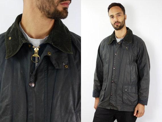 BARBOUR Wax Coat Barbour BEDALE Wax Jacket Vintage Barbour Coat Parka Blue Coat BARBOUR Wax Jacket Blue Wax Coat Barbour Bedale Coat Waxed