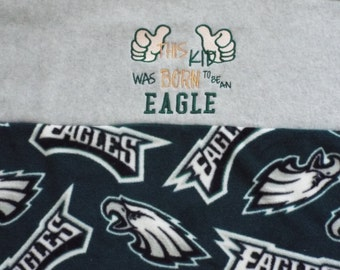 Eagles Blanket -Baby Blanket with This Kid was Born To Be An Eagle Embroidery