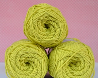 Kacenka - soft cotton/acrylic yarn for crochet and knitting, Light apple green color, No. 6254, 1 ball/50 g, Producer NCT