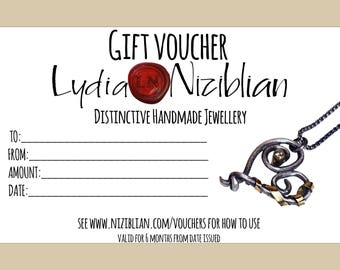 Lydia Niziblian Jewellery Gift Voucher