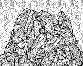 Printable Coloring Page Zentangle Dance Coloring Book