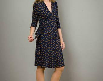 "Wrap Dress, Nursing Dress ""Diana"" in blue-red"