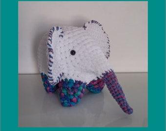 Plush - Toy - AMIGURUMI - ELEPHANT - crochet