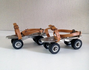 Vintage Roller Skates Adjustable - Speed Skating - Junior Speedy Made in France
